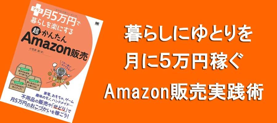 暮らしにゆとりを月に5万円稼ぐAmazon販売実践術
